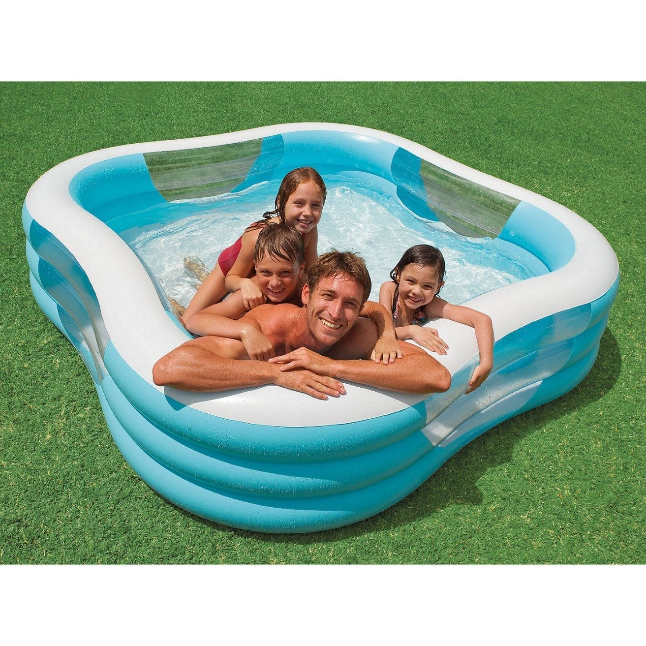 Intex inflatable pool family swimming backyard outdoor kid center above ground inflatable Intex inflatable swimming pool