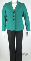 Evan Picone Jade Black Jacket Pant Suit 32.25 I... - $62.36