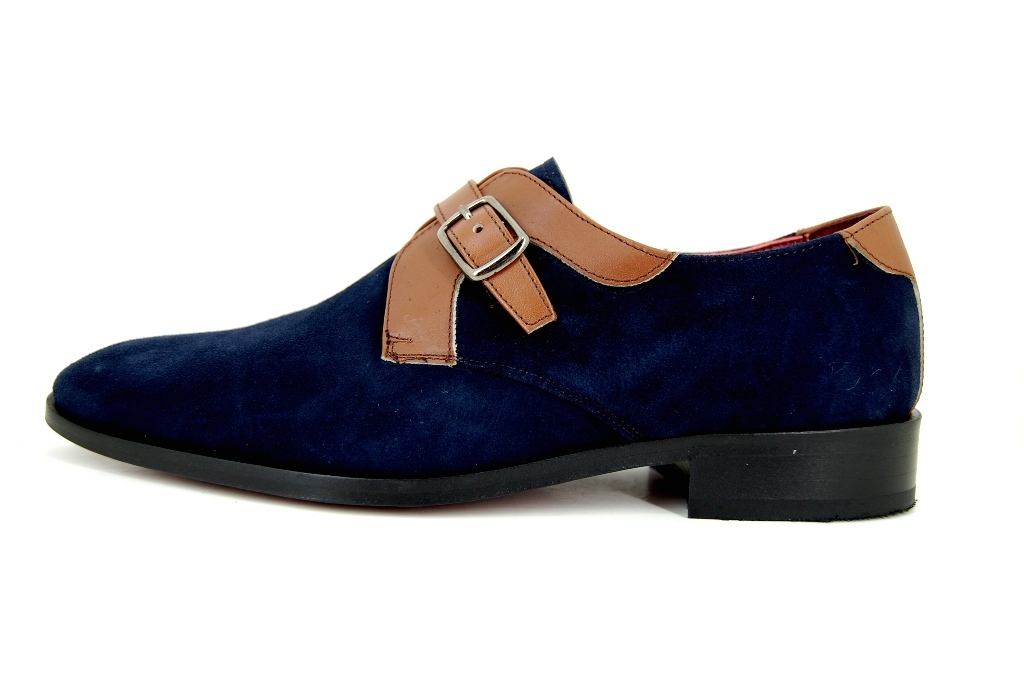 Mens Leather Monk Shoes