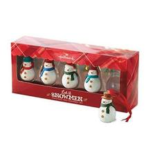 Hallmark Keepsake Ornament Direct Imports Let It Snowman 5 Piece Set - $19.80