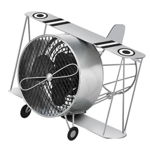DecoBreeze Silver Biplane Figurine Fan - DBF5415 - $89.00