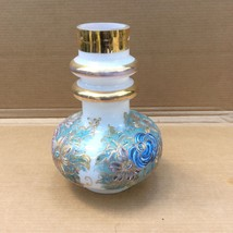 Vintage Table Lamp Glass Section with Hand Pain... - $33.65