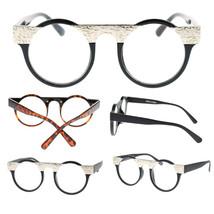 New Unisex Retro Runway Metal Plate Round Circle Lens Clear Optical Eye Glasses - $7.95