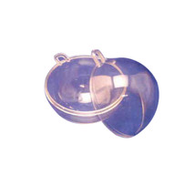 """12 Clear Plastic Ball fillable Ornament favor 2.7"""" 70mm - $9.41"""