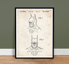 Batman Dark Knight 1992 Patent Art 18x24 Print Comic Book Superhero Movie Pos... - $24.97