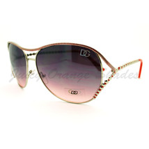 Womens Oversized Round Sunglasses Stylish Unique Metal Beaded Look - $7.95