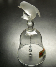 Cedar Point Dolphin Bell Frosted Dolphin Top Clear Glass Bell and Clappe... - $12.99