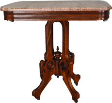 17498 Victorian Marble Top Parlor Stand - $385.00