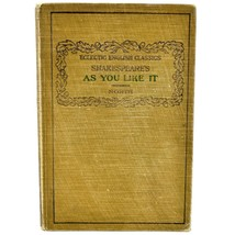 Eclectic English Classics Shakespeare's As You Like It 1910 Hardcover Book