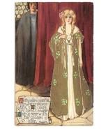 Unsigned Samuel Schmucker Fairy Queen Series Rossetti Rose Mottoe Postcard - $184.00