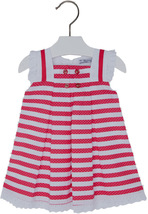 Mayoral Baby Girls 3M-24M Poppy-Raspberry Red Pin Dot and Stripes Social Dress
