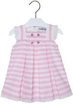 Mayoral Baby Girls 3M-24M Rose-Pink Pin Dot and Stripes Social Dress