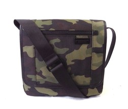 NEW MENS MICHAEL KORS TRAVIS ARMY CAMO NYLON FLAP MESSENGER BAG - $112.00