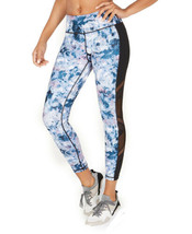 Ideology Kaleidoscope Mesh-Trimmed Leggings (PacificTeal, XS) - $24.48