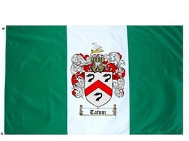 Tatum Coat of Arms Flag / Family Crest Flag - $29.99