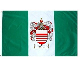 Thorn Coat of Arms Flag / Family Crest Flag - $29.99
