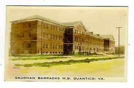 Gaughan Barracks Marine Hand Colored Real Photo Postcard Quantico Virgin... - $49.42