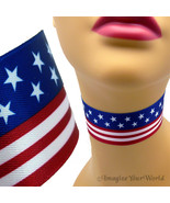 Patriotic American Flag Choker Red White Blue USA Independence Day 4th o... - $5.50
