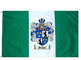 Senger Coat of Arms Flag / Family Crest Flag - $29.99