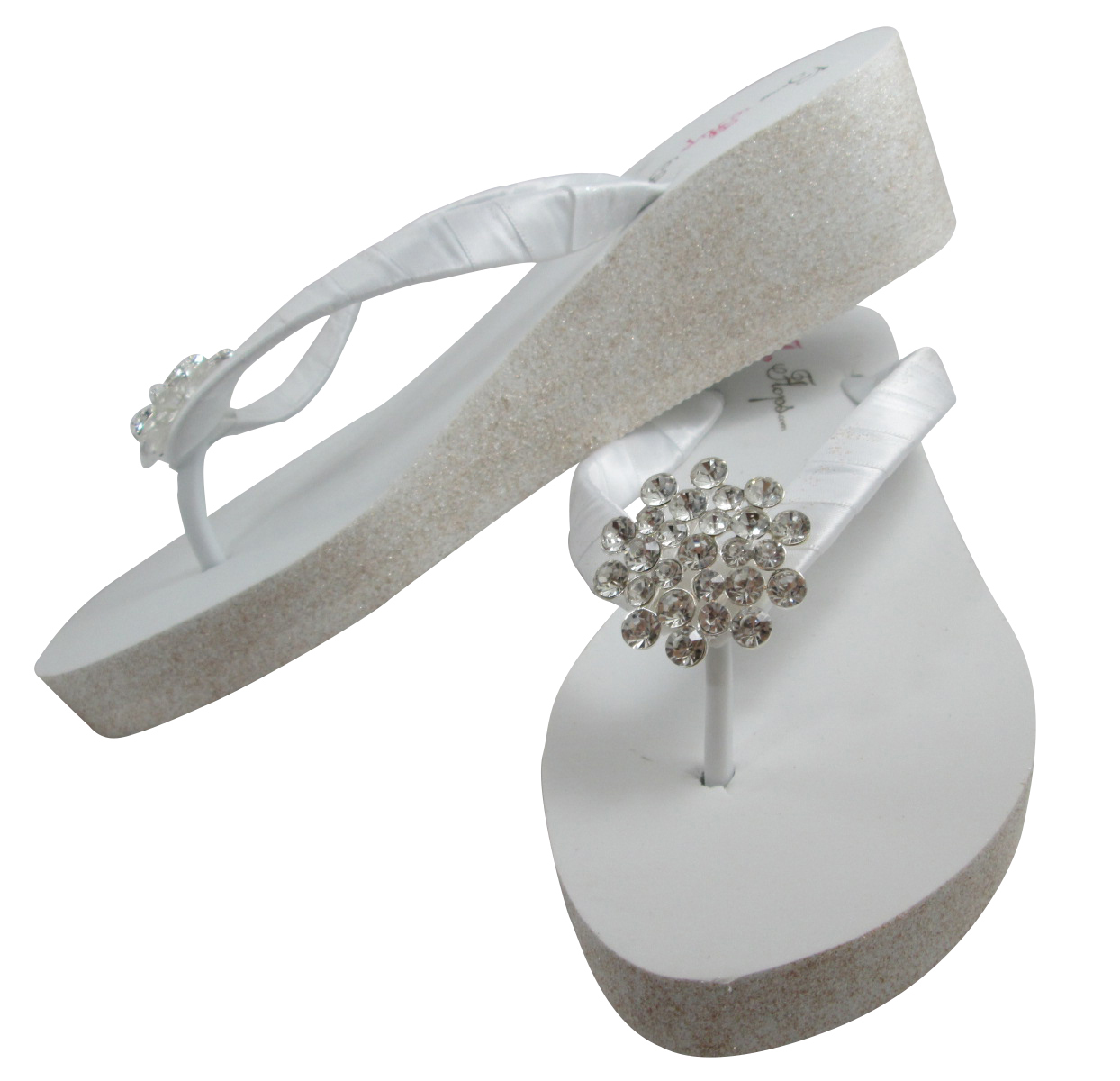 7bcbde38506a Large Jewel Bridal Flip Flops