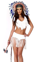Forplay Native American Indian Summer White Fringe Costume 4pc - $39.99