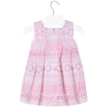 Mayoral Baby Girls 3M-24M Orchid Pink Colorblock Tiers Social Dress image 2
