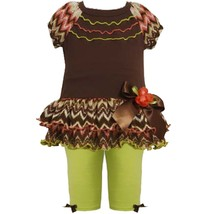 Bonnie Jean Baby Girls 3M-24M Zig Zag Flamestitch Tiered Knit Dress/Legging Set