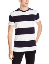 Mens French Connection Shake Down Stripe Cotton T-shirt 56FNI - $27.99