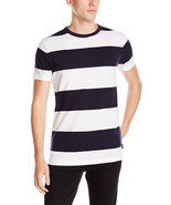 Mens French Connection Shake Down Stripe Cotton T-shirt 56FNI - £25.03 GBP