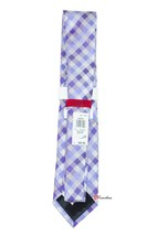 Alfani Spectrum Men's Neck Tie Gingham Light Purple Checkered 100% Silk $49.50 image 2