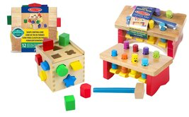 Melissa & Doug Shape Sorting Cube with Pounding Bench - $26.68