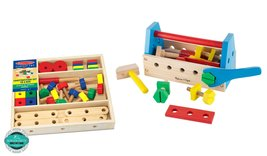 Maven Gifts: Melissa and Doug Construction Set and Take Along Tool Kit - $32.62