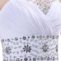 White Chiffon Beach Wedding dress prom dress or party dress  at Bling Brides  image 7