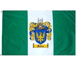 Saenz Coat of Arms Flag / Family Crest Flag - $29.99