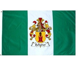 Schorer Coat of Arms Flag / Family Crest Flag - $29.99