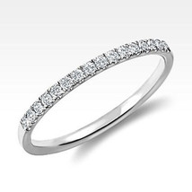0.15 Carat Solid White Gold Diamond Anniversary Wedding Bnad 14k Solid - £175.74 GBP