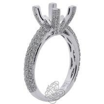 1.25CT Women Semi Mount Princess Cut Diamond Halo Engagement Ring 18K Wh... - $1,880.01