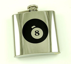 "Brand New Mirror ""8 Ball"" Polished Stainless Steel Liquor Flask 6oz - €12,05 EUR"