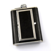 Brand New Stainless Steel Flask & Cigarette Case 6oz High Quality - €12,78 EUR