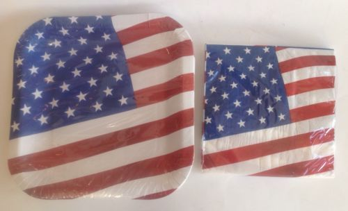 New Party Set USA American Flag Paper Plates and 25 similar items