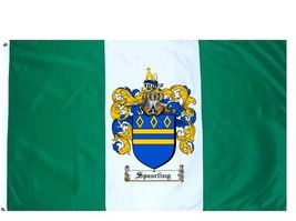 Spearling Coat of Arms Flag / Family Crest Flag - $29.99
