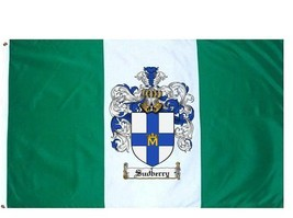 Sudberry Coat of Arms Flag / Family Crest Flag - $29.99