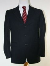 Hart Schaffner & Marx Mens Suit 40 Double Breasted Black Vintage Fashion... - $46.48