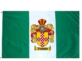 Vermeulen Coat of Arms Flag / Family Crest Flag - $29.99