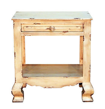 Heirloom End Table Shabby Chic Side Table Cabin Lodge Western