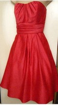 MORI LEE 7/8 Strapless Knee Length Cocktail Dress Solid Pink Polyester F... - $49.01