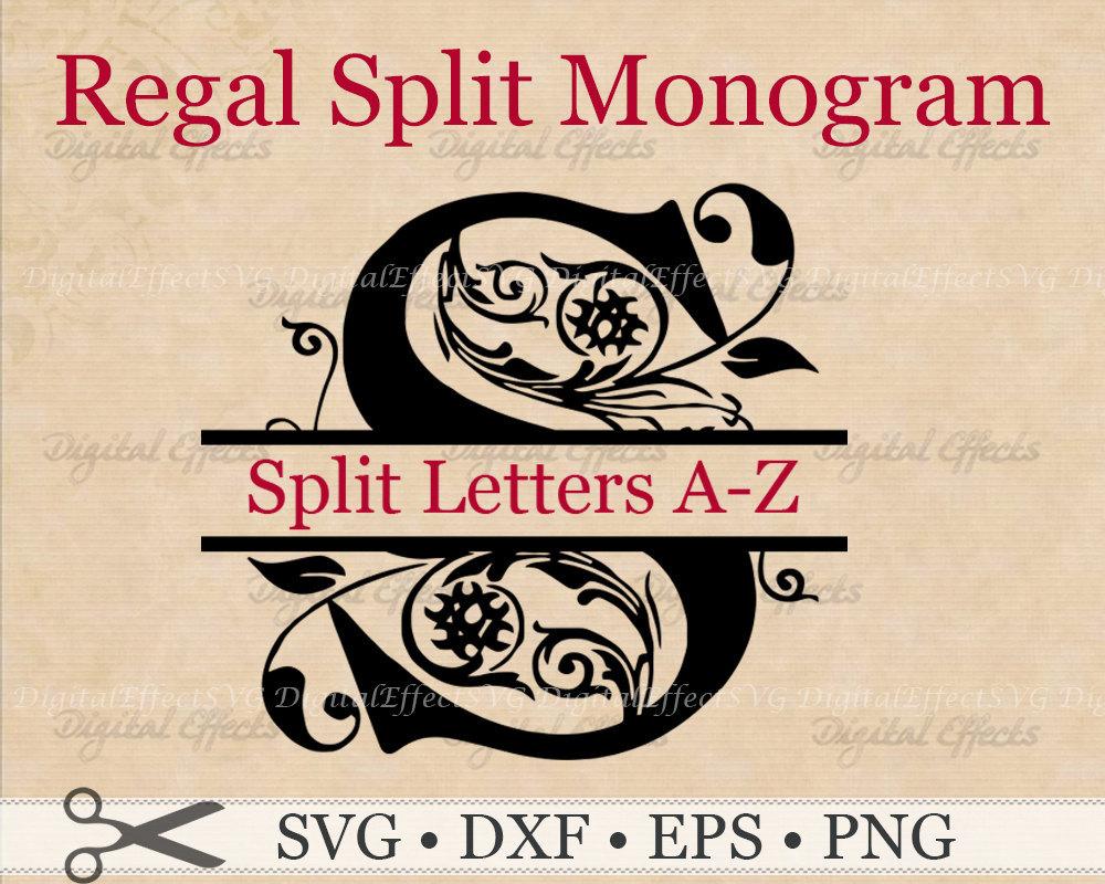 Regal Split Monogram Svg Dxf Eps Png And 50 Similar Items