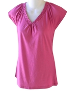 Banana Republic Size S Womens Pink Pintuck V-Neck Top   - $5.99