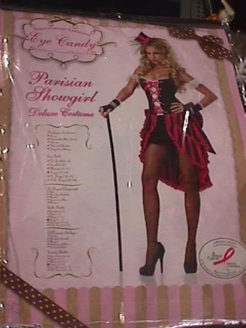 LARGE Can Can Costume Adult Parisian Showgirl Dancer Saloon Girl Halloween Dress