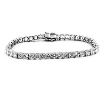 7.46CT Women's Certified Round Diamond Tennis Bracelet 18K Solid White Gold - $8,414.01